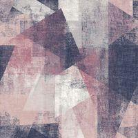 DUTCH WALLCOVERINGS Veggpanel perspektiver rosa og lilla