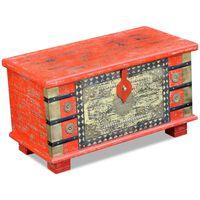vidaXL Oppbevarings Kiste Rødt Mango Tre 80x40x45 cm