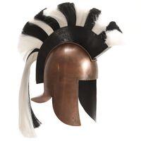 vidaXL Hellensk krigerhjelm antikk replika LARP kobber stål