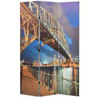 vidaXL Sammenleggbar romdeler 120x170 cm Sydney Harbour Bridge