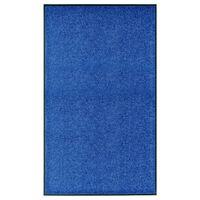 vidaXL Dørmatte vaskbar blå 90x150 cm