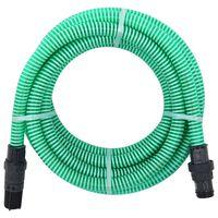 vidaXL Sugeslange med PVC kontakter 10 m 22 mm grønn