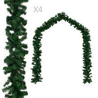 vidaXL Julegarland 4 stk grønn 270 cm PVC