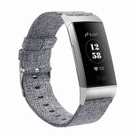 'Fitbit Charge 3 Armbånd lerret grå - L