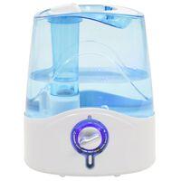 vidaXL Ultrasonisk luftfukter med kjølig dis og nattlys 6 L 300 ml/t