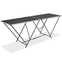 vidaXL Foldbart tapetbord MDF og aluminium 200x60x78 cm