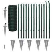 vidaXL Euro gjerde stål 25 x 1,2 m grønn