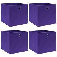 vidaXL Oppbevaringsbokser 4 stk lilla 32x32x32 cm stoff