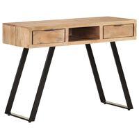 vidaXL Skrivebord 110x50x75 cm heltre akasie med naturlig kant