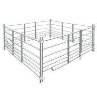 vidaXL Sauebinge 4 paneler galvanisert stål 183 x 183 x 92 cm