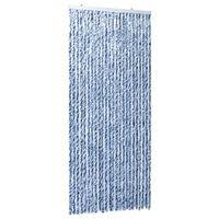 vidaXL Insektgardin 100x220 cm blå, hvit og sølv