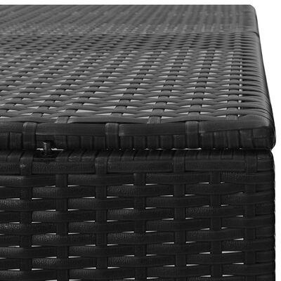 vidaXL Søppeldunkskur firedobbel svart 305x78x120 cm polyrotting