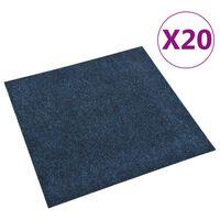 vidaXL Gulvteppefliser 20 stk 5 m² marineblå
