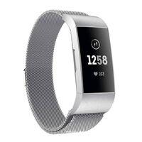 Fitbit Charge 3/4 armbånd Milanese loop - sølv - S