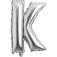 Bokstavballong 53 cm, bokstav K - sølv