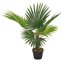vidaXL Kunstig palme med potte grønn 70 cm