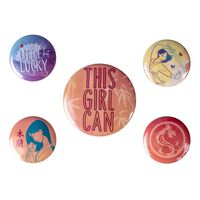 Mulan, 5x Pins - This Girl Can