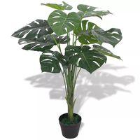 vidaXL Kunstig vindusblad med potte 70 cm grønn