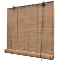 Brun bambus rullegardin 100 x 160 cm