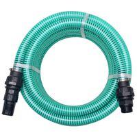 vidaXL Sugeslange med messingkontakter 10 m 22 mm grønn