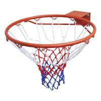 vidaXL Basketballkurvsett med netting oransje 45 cm