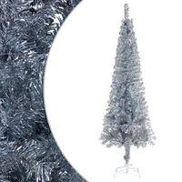 vidaXL Slankt juletre sølv 210 cm