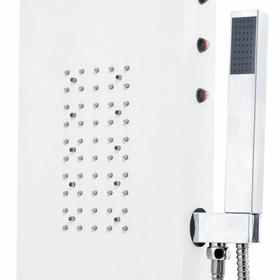 vidaXL Dusjpanel aluminium 20x44x130 cm hvit, Hvit