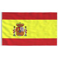 vidaXL Spansk flagg 90x150 cm