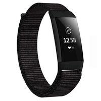 Fitbit Charge 3 nylon armbånd - svart