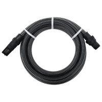 vidaXL Sugeslange med PVC kontakter 10 m 22 mm svart