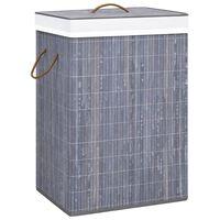 vidaXL Skittentøyskurv bambus grå 72 L