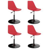 vidaXL Svingbare spisestoler 4 stk rød PP