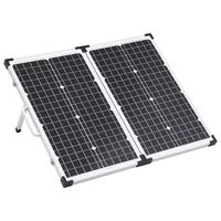 vidaXL Sammenleggbar solcellepanelkoffert 60 W 12 V