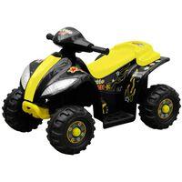 vidaXL Elektrisk firehjuling for barn gul og svart