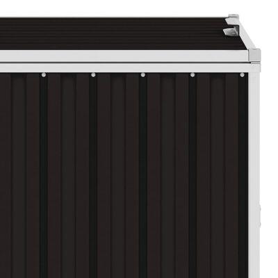 vidaXL Trippelt søppeldunkskur brun 213x81x121 cm stål