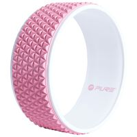 Pure2Improve Yogahjul 34 cm rosa og hvit