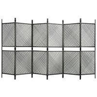 vidaXL Romdeler med 6 paneler polyrotting antrasitt 360x200 cm