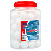 Get & Go Bordtennisballer 60 stk ABS hvit