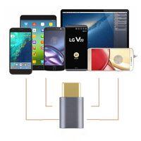 USB-C til Micro USB-adapter aluminium - grå
