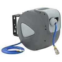 "vidaXL Automatisk luftslangetrommel 1/4"" 20 m"