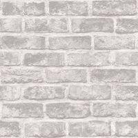DUTCH WALLCOVERINGS Veggpanel murstein grå