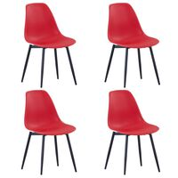 vidaXL Spisestoler 4 stk rød PP