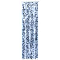 vidaXL Insektgardin blå og hvit 90x200 cm chenille