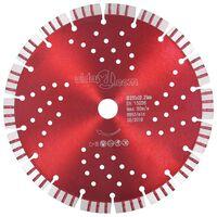 vidaXL Diamantkutteskive med turbo og hull stål 230 mm