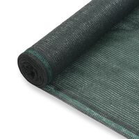 vidaXL Tennisskjerm HDPE 2x50 m grønn