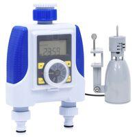 vidaXL Elektronisk vanningstimer med to krankoblinger og regnsensor