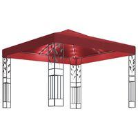 vidaXL Paviljong med LED-lysslynge 3x3 m vinrød