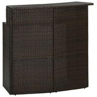 vidaXL Hagebord brun 120x55x110 cm polyrotting