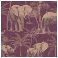 DUTCH WALLCOVERINGS Veggpanel Elephant Grove aubergine