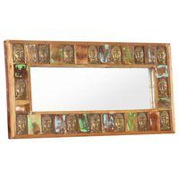 vidaXL Speil med Buddha-motiver 110x50 cm gjenvunnet tre